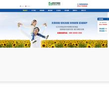 中英保洁环保消毒类响应式网站织梦模板(自适应手机)