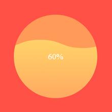 html5 canvas波浪滚动圆形加载动画特效