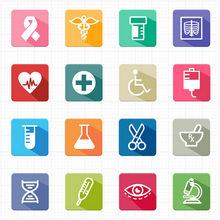 一组精美简洁的医疗医院图标素材下载