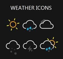 纯css3简易的天气图标动画特效