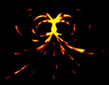 html5 canvas旋涡火焰流体动画特效
