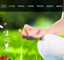 响应式经络养生健康类网站织梦模板(自适应手机端)