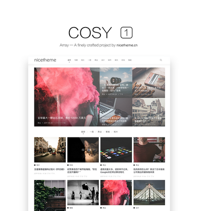 wordpress主题Cosy介绍和安装教