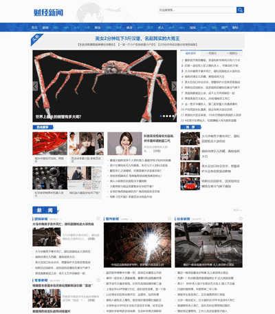 社会财经新闻资讯网类织梦模板(