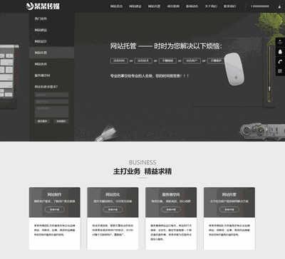 网站建站优化推广类网站织梦模板(带手机端)