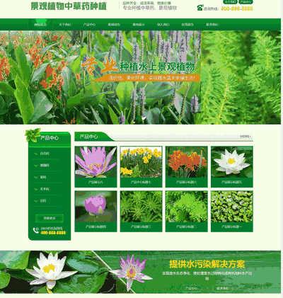 中草药景观树木种植类通用织梦网站模板(带手机端)