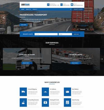英文物流展示类企业静态网站模板