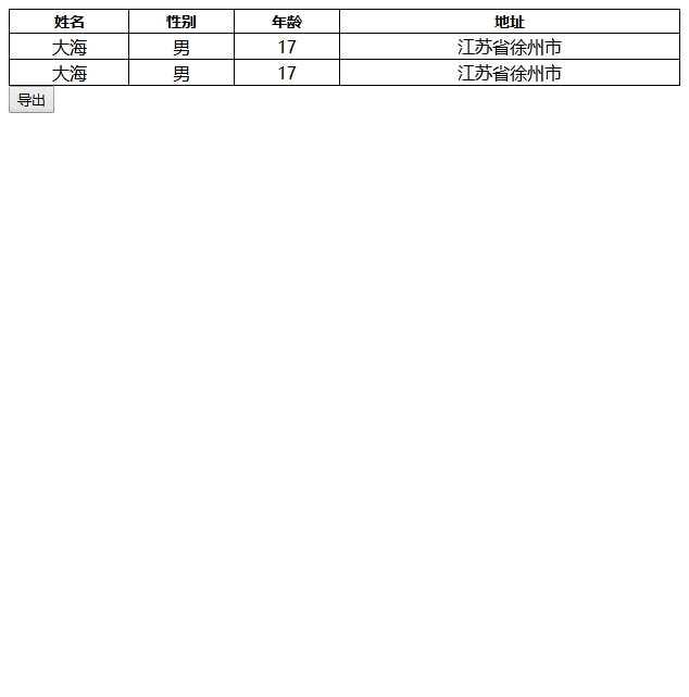 js导出表格为excel,word,PDF,CSV的模板