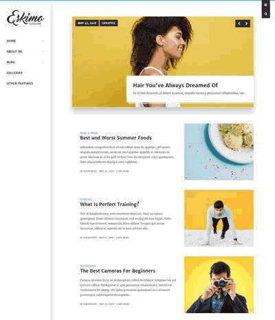 英文Bootstrap个人摄影图片博客静态网站模板