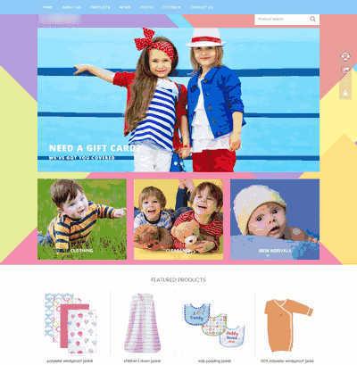 织梦dedecms响应式自适应儿童服饰外贸类网站源码