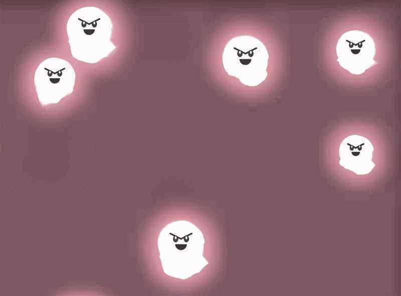 canvas绘制可爱的鬼魂幽灵动画特效