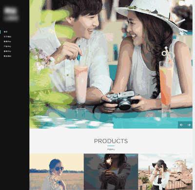 HTML5响应式自适应婚纱摄影图片展示通用类织梦模板