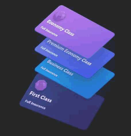 css3 3D卡片层叠特效