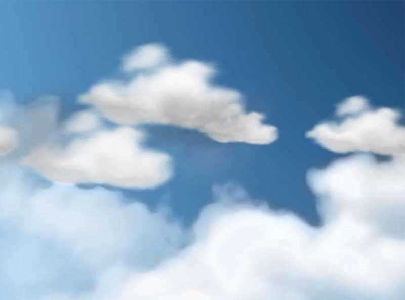蓝天白云飘过css3动效