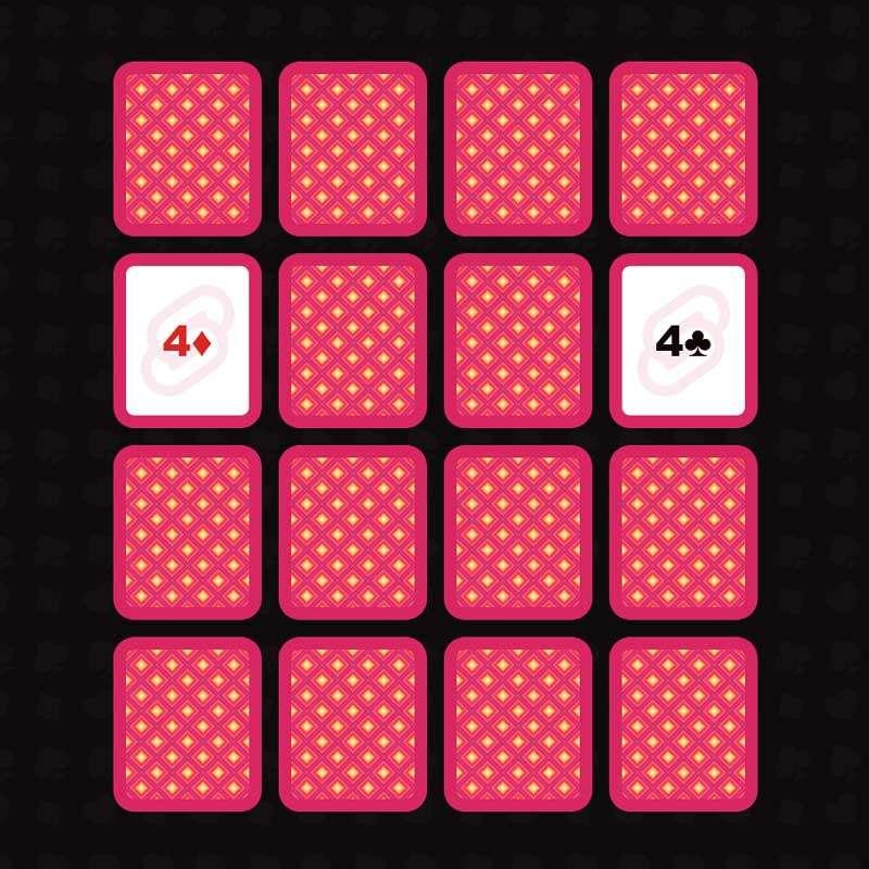 简单的翻纸牌记忆游戏代码