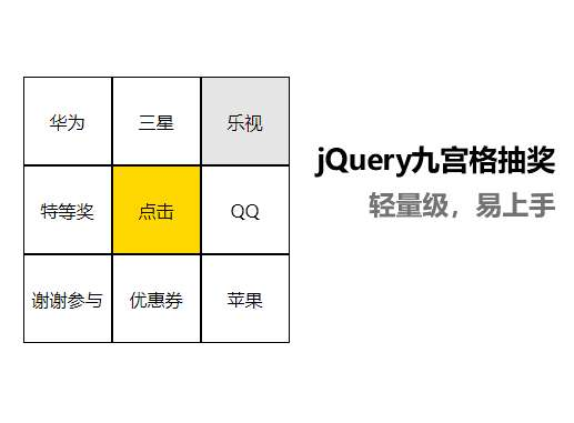 jQuery��B九�m格�D�P特效