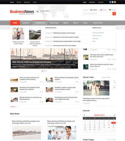 扁平化网络图片分享门户网站html模板下载