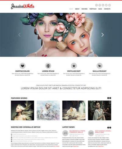 婚纱摄影网站模板html5静态模板