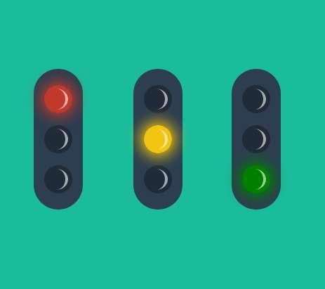 css3交通信号灯ui特效