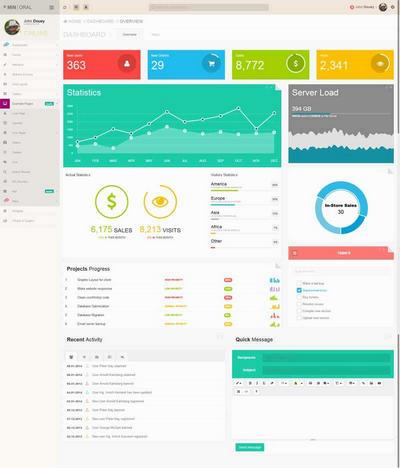 html5扁平化的�W站����y�后�_管理模板