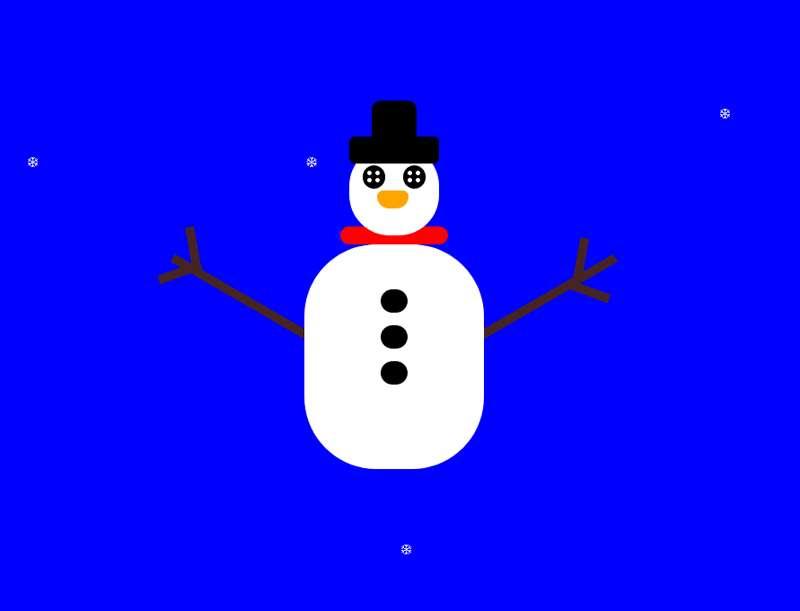 冬季雪花雪人动画特效