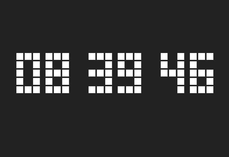 方块数字时钟css3特效