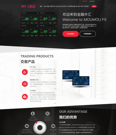 响应式自适应金融外汇通用网站模板