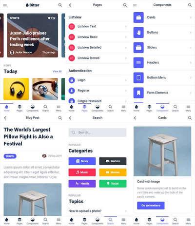 多用途app应用程序页面模板