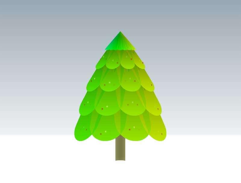 css3闪亮的节日树ui特效