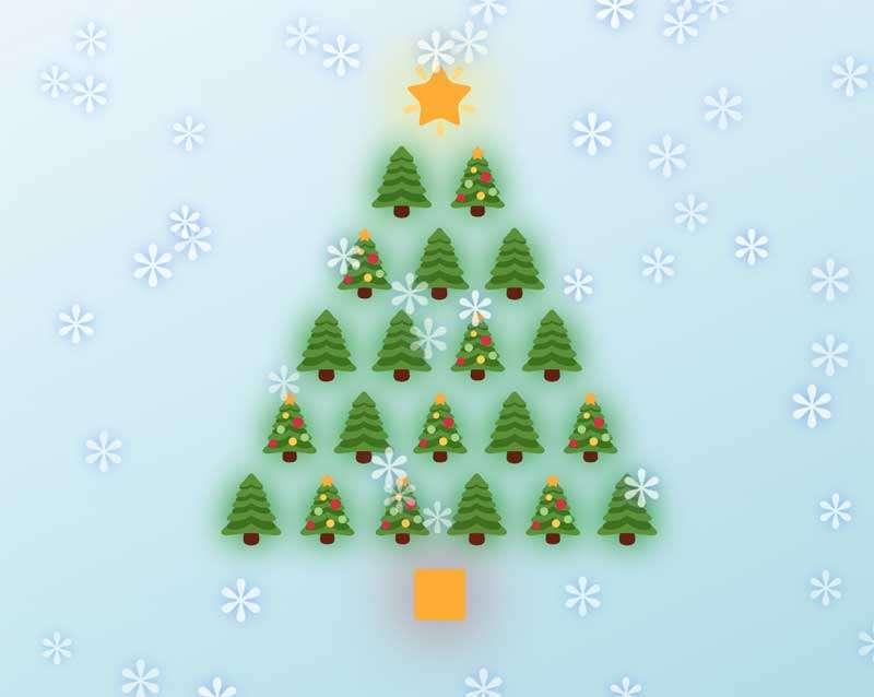圣诞节日快乐主题ui动画特效