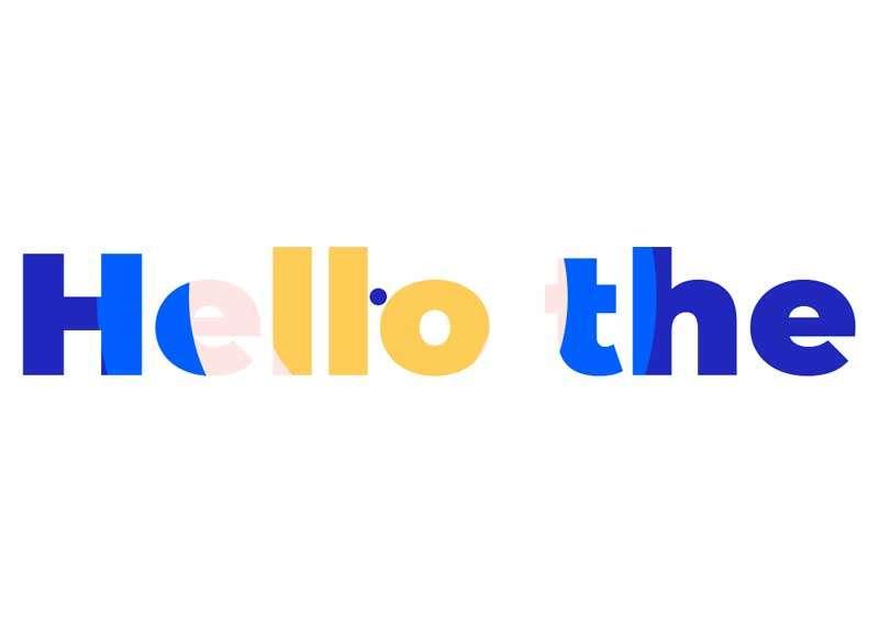 html5聚光灯光标文字特效
