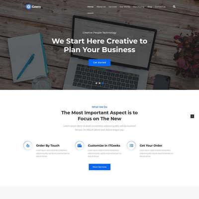 英文多用途的商业营销网站着陆页模板