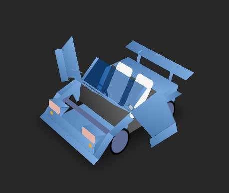 纯css3汽车3D模型动画特效