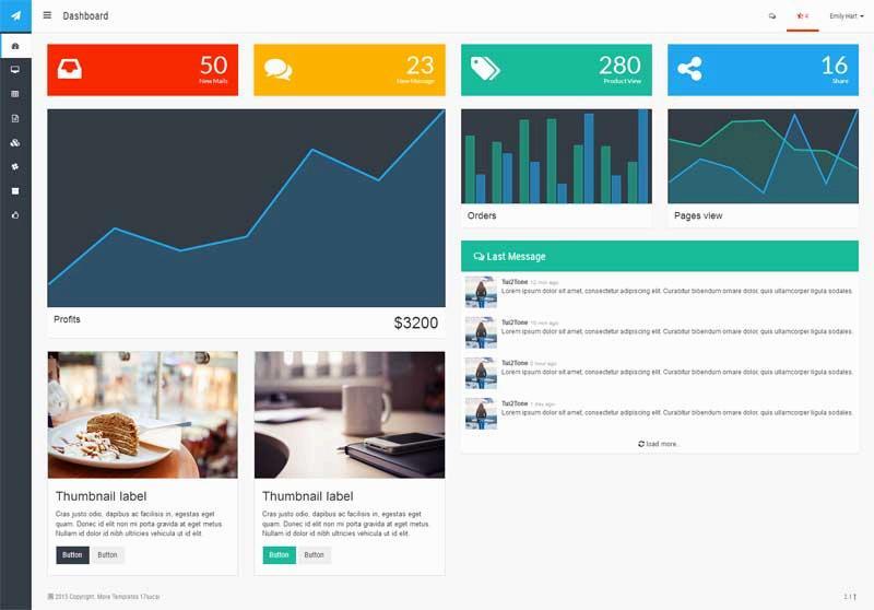 实用的企业博客网站系统管理手机后台模板