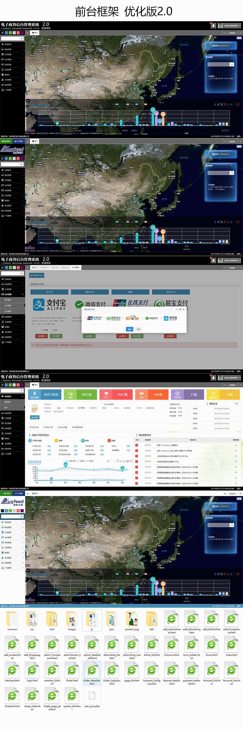 通用商城网站后台管理系统界面html模板