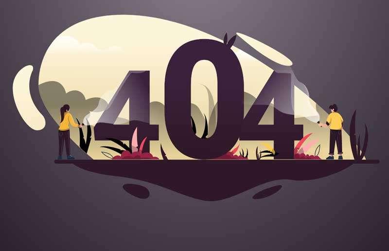 基于svg卡通404插画特效