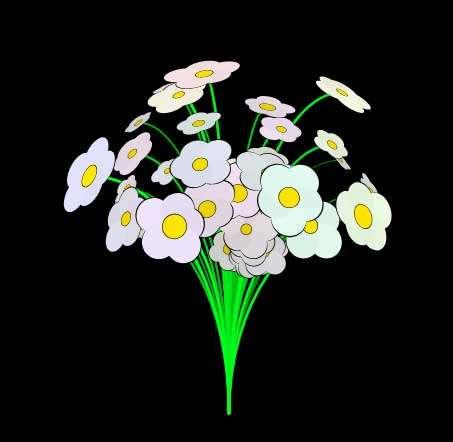 卡通鲜花花束canvas动效