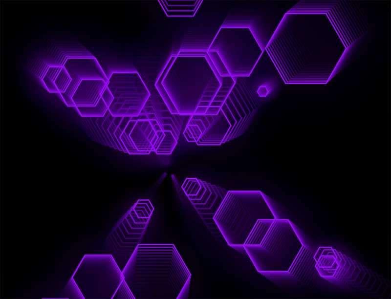 六边形酷炫科技动画特效