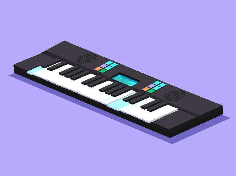 卡通的音乐钢琴ui动画特效