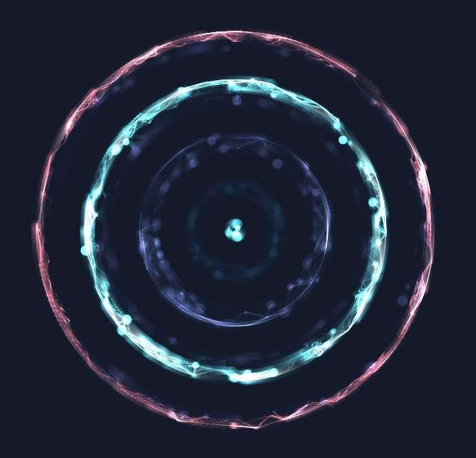 酷炫的水晶光圈旋转动效