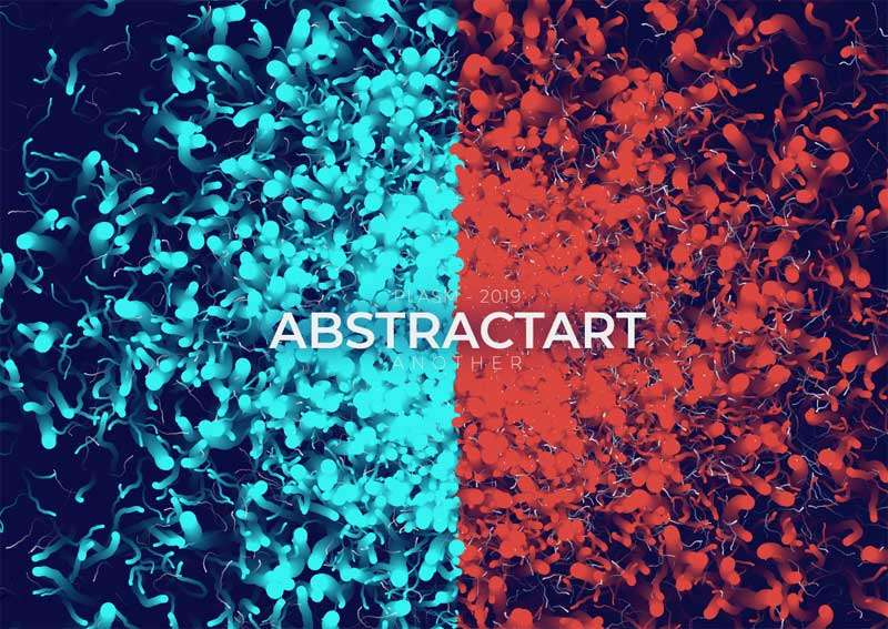 全屏的抽象粒子切割背景特效