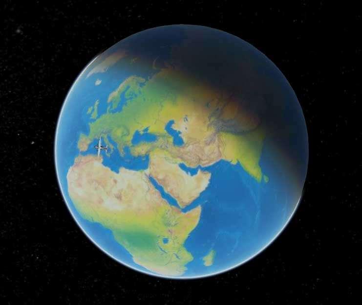 全屏的飞机飞行地球3D特效