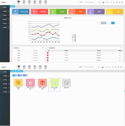 实用的商品库存erp企业管理系统html模板