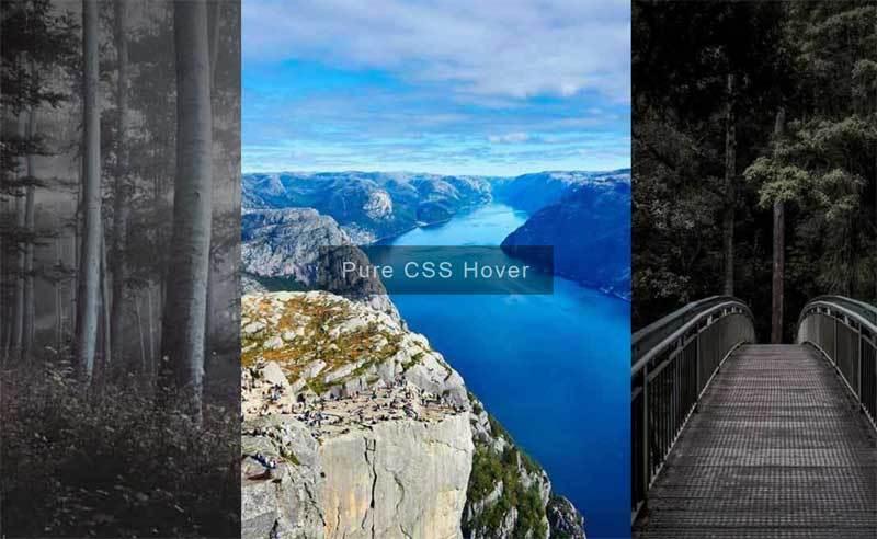 css3全屏图片手风琴特效