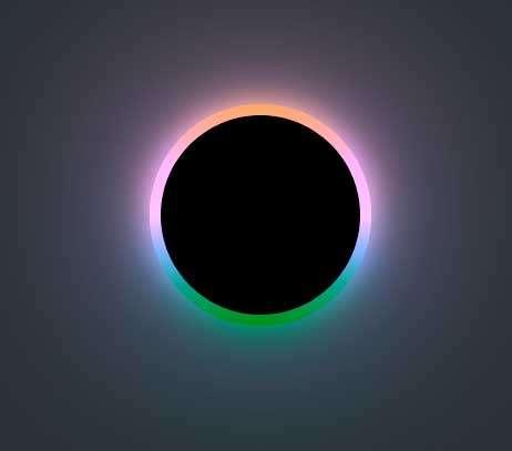 彩色发光的黑洞动画特效