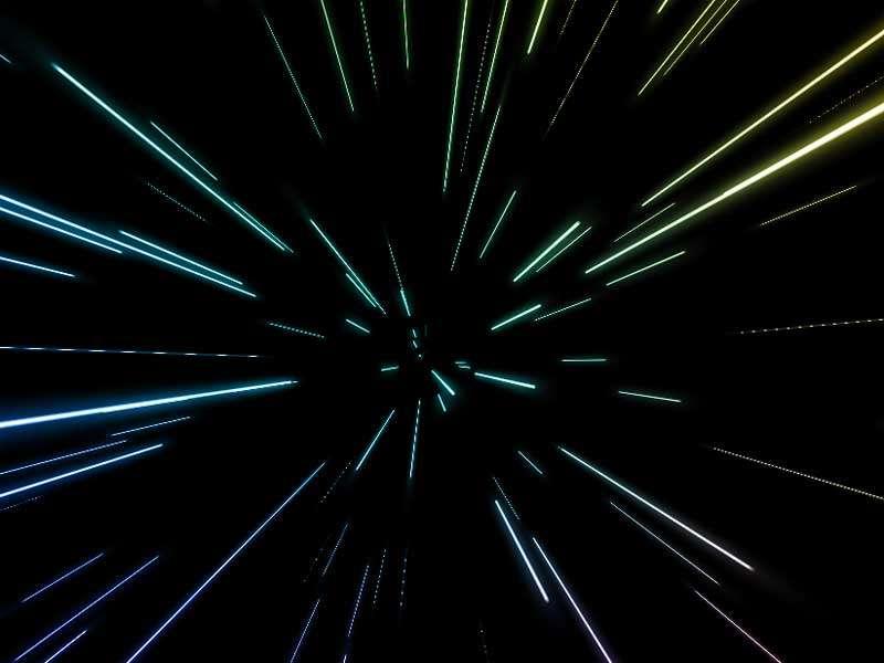 酷炫的光速射线动画特效