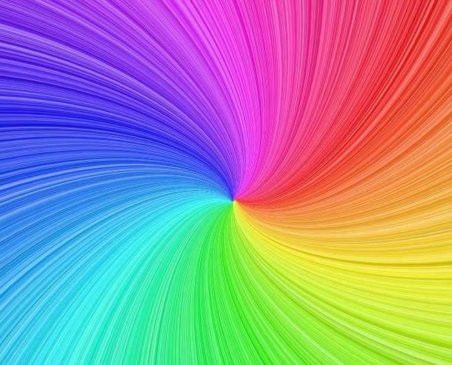 canvas彩虹漩涡背景特效