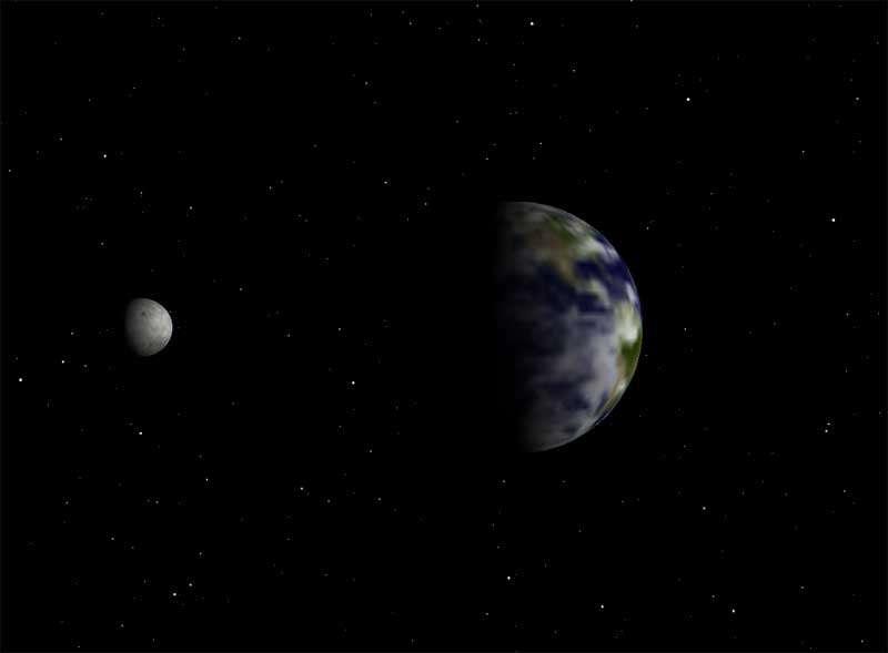 太空中地球自转ui动画特效