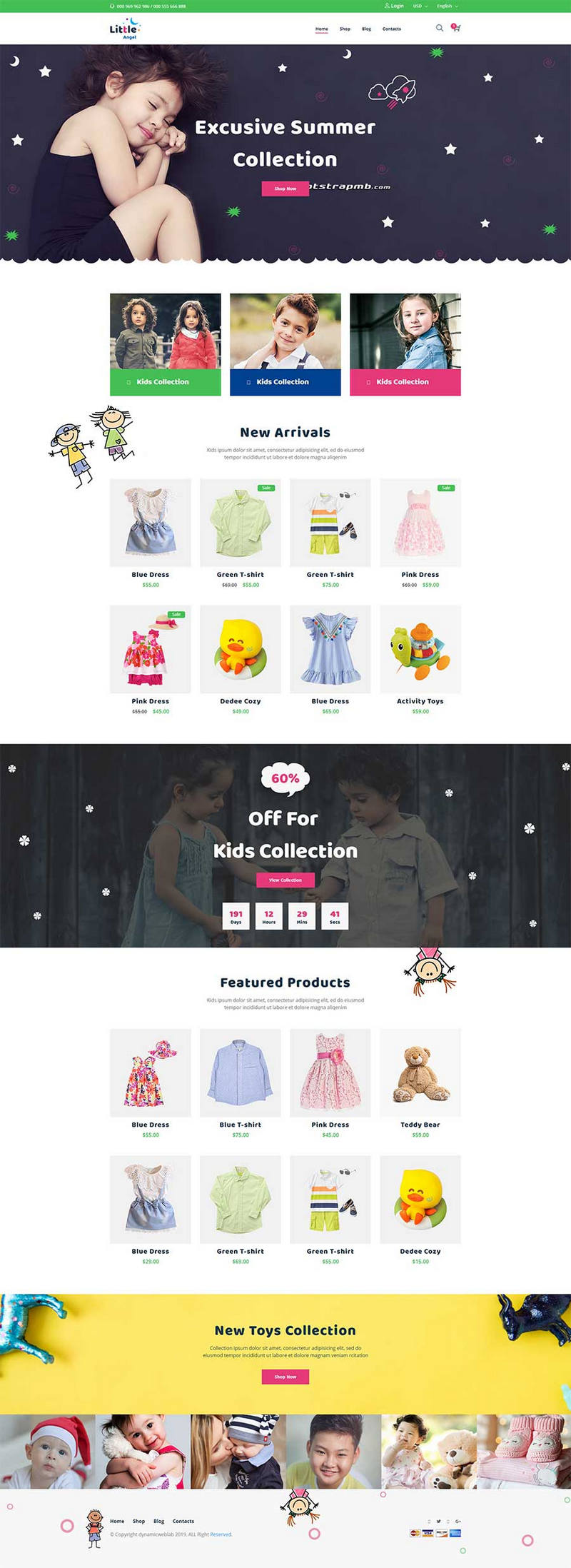 bootstrap响应式儿童用品商城网站模板