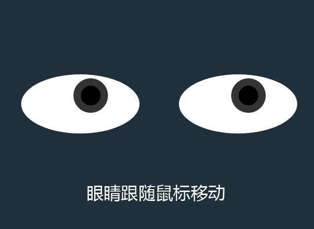 css3眼睛跟随鼠标移动特效